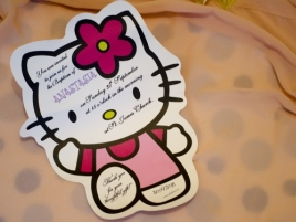 Invitatie botez Hello Kitty