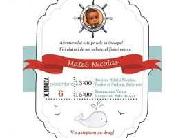 "Invitatie Botez ""Nautic"""