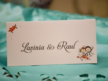 Card de masa / Placecard