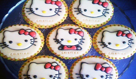 Marturie botez Hello Kitty biscuit